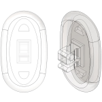 13mm, Oval - 110 Pair
