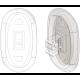 15mm, Oval, Acetate - 6 Pair