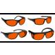 Noir Wraparound Orange Glasses Argon/ktp Lasers