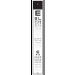 ETDRS Projector Slide Numbers & Sloan Letters 20/400-20/9