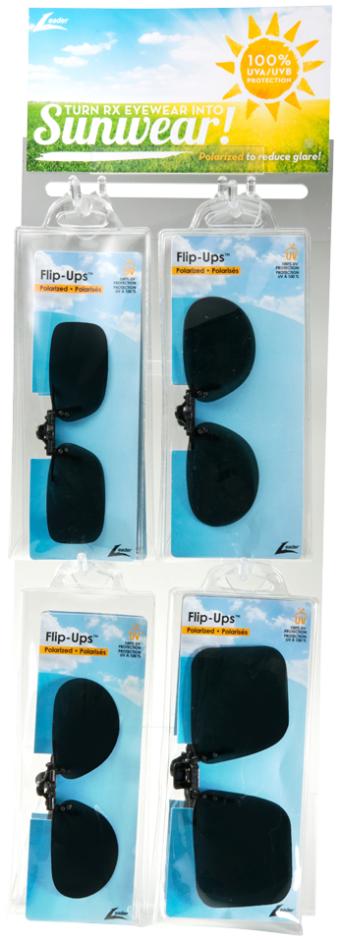 Flip-Ups Display with 12 Piece Assortment