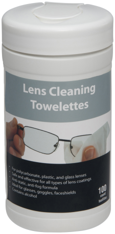 Pre-Moistened Lens Wipes Dispenser