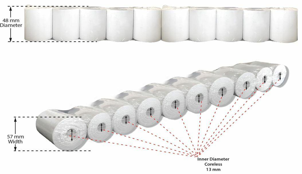 Visionix Thermal Printer Paper (for Visionix Vf40 And Vx120)
