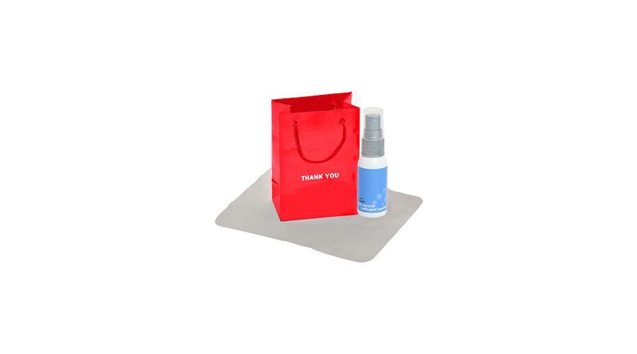 Thank You Gift Bag, White Bottle/Gray Pump
