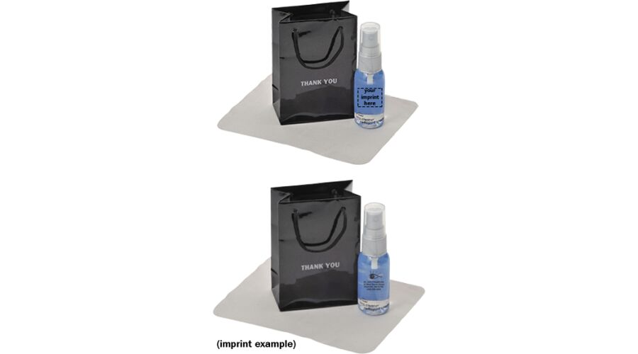 Thank You Gift Bag, Clear Bottle/Gray Pump