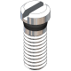Eyewire Screw Length 4.35mm, Silver, 25 Pcs. (slot)