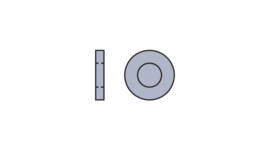 Metal Flat, Silver 1.40mm