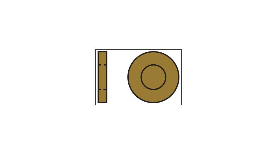 Metal Flat, Gold 1.40mm