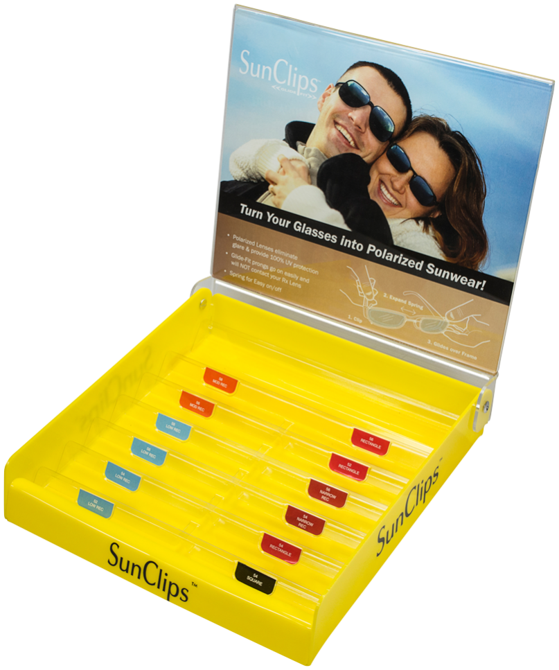 Glide-Fit Sunclips Starter Kit Empty Display