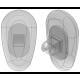 15mm, Oval, Screw-On - 3 Pair