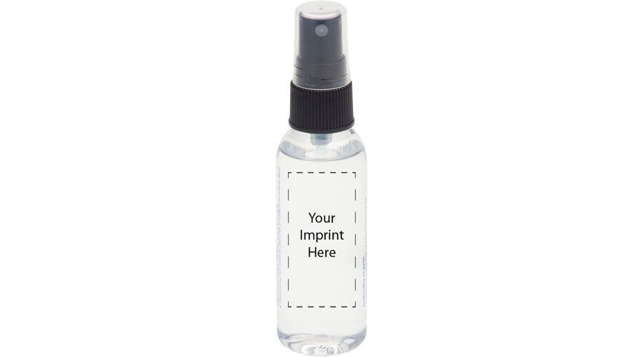 2 oz. Clear Bottle, Black Pump - Silk Screen - Imprint