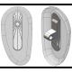 "20mm, ""D"" Shape, Silver - 5 Pair"