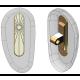 "20mm, ""D"" Shape, Gold - 5 Pair"