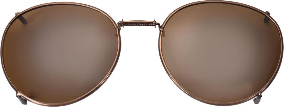 Glide-Fit SunClip, Round - 52mm, Bronze frame, Driver lens