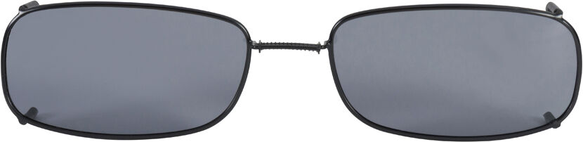 Glide-Fit SunClip, Low Rectangle - 58mm, Black frame, Gray lens
