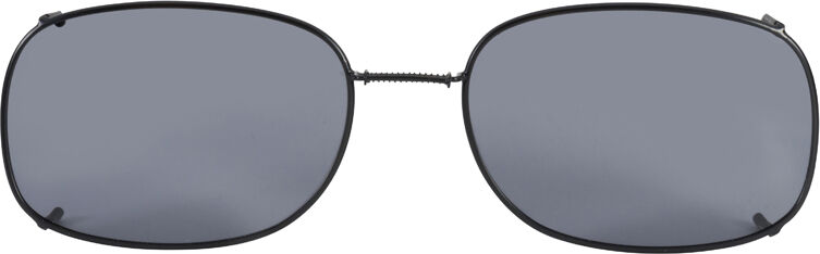 Glide-Fit SunClip, Rectangle - 56mm, Black frame, Gray lens