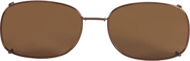 Glide-Fit SunClip, Rectangle - 56mm, Bronze frame, Driver lens