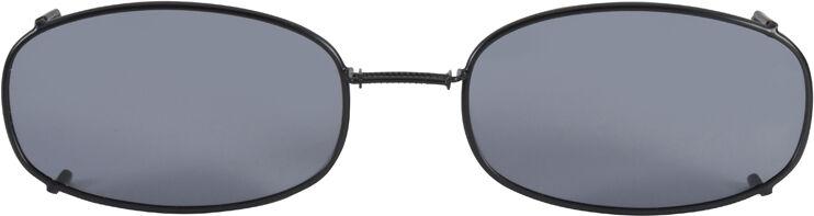 Glide-Fit SunClip, Oblong - 54mm, Black frame, Gray lens