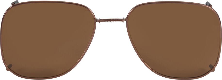 Glide-Fit SunClip, Square - 58mm, Bronze frame, Driver lens