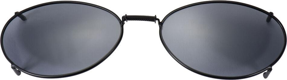 Glide-Fit SunClip, Ellipse - 54mm, Black frame, Gray lens