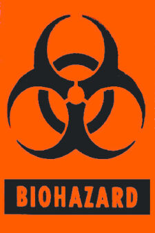 BIOHAZARD Adhesive Labels