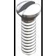 Nose Pad/Bridge Screw, Silver, 125 Pcs. (slot)