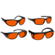 Noir Wraparound Amber Glasses Infrared Lasers