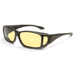 Night Driver - Large Rectangle, Black frame / Yellow lens