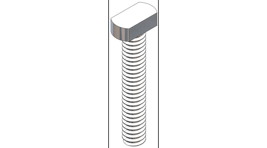 Rectangle Head Lens Screw - 8.7mm, Silver, 25 Pcs.