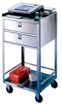 Lakeside Stainless Steel Carts - Two Shelves, Two Drawers