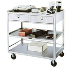 Lakeside Stainless Steel Carts - Two Drawer Equipment Stand