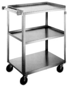 Lakeside Stainless Steel Carts - Utility Cart w/Three Shelves