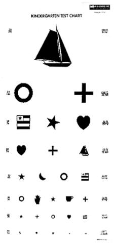 Child's Eye Exam Chart
