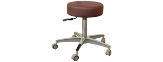 "Pedigo Pneumatic Stool w/24"" Cast Aluminum Base"