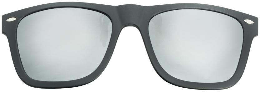 Waycool Jr Flip-Ups Black/ Silver Mirror, Polarized
