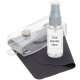 Classic Kit, Silk Screen Clear Bottle with Gray, Black Cloth