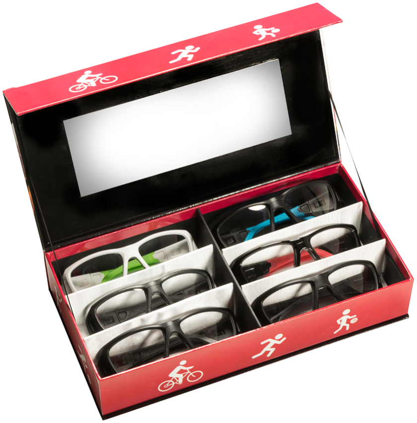 Leader Rx Sport: 6 Place Case With Mirror