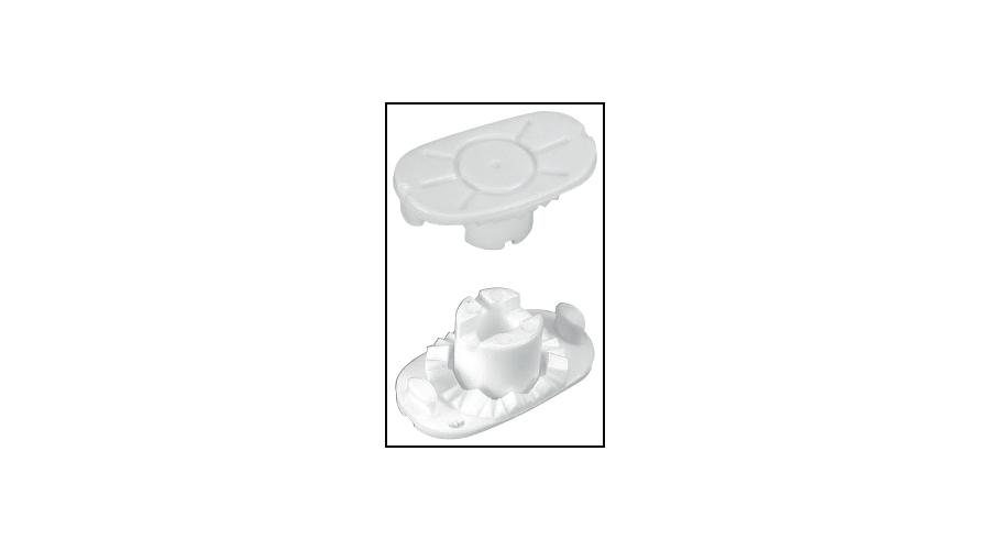 Pliable Lens Block White - 10Pcs