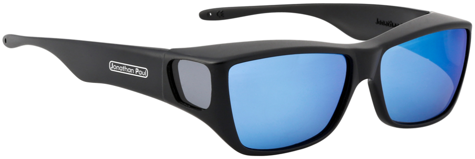 Jpe:  Traveler Satin Black Polarvue  Blue Mirror Grey