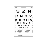"Translucent Sloan Vision Chart 9""x14"""