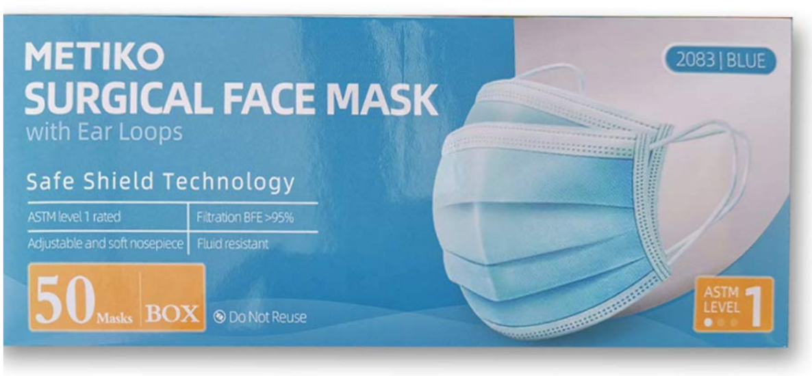 Disp Surgical Masks - Earloop - Astm Level 1 Bx50