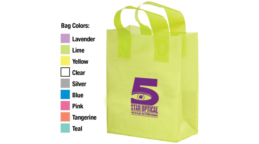 """8"""" X 11"""" FROSTED SHOPPER WITH CARDBOARD BOTTOM INSERT, SOFT"""