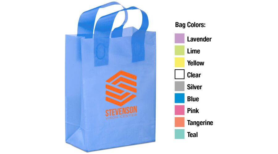 """10"""" X 13"""" X 5"""" FROSTED SHOPPER BAG"""