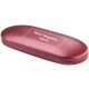 Cranberry Satin Oval Case, Imprinted