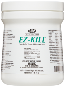 Clorox Healthcare® EZ-Kill Alcohol Cleaner Disinfectant Wipes