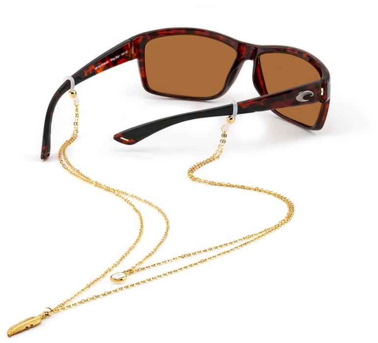 Croakies: Fashion Chain Dble Layer Spec End