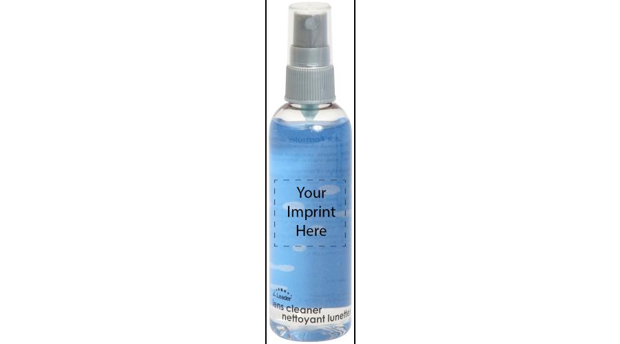 4 oz. Clear Bottle, Gray Pump - Label - Imprint