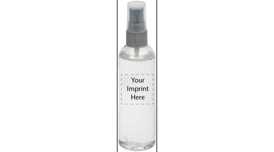 4 oz. Clear Bottle, Gray Pump - Silk Screen - Imprint