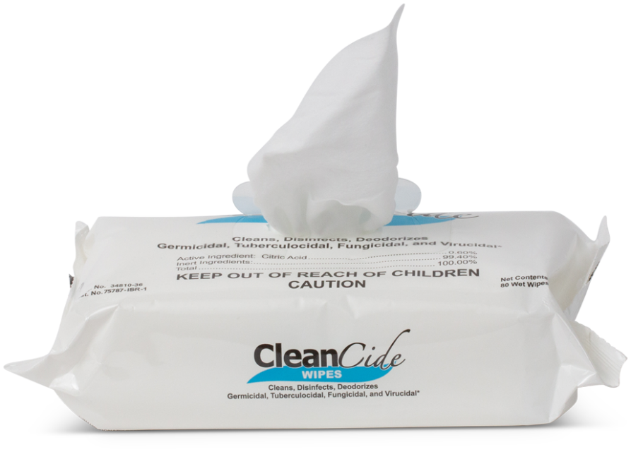 Cleancide 1 Resalable Flow Pack 80 Count