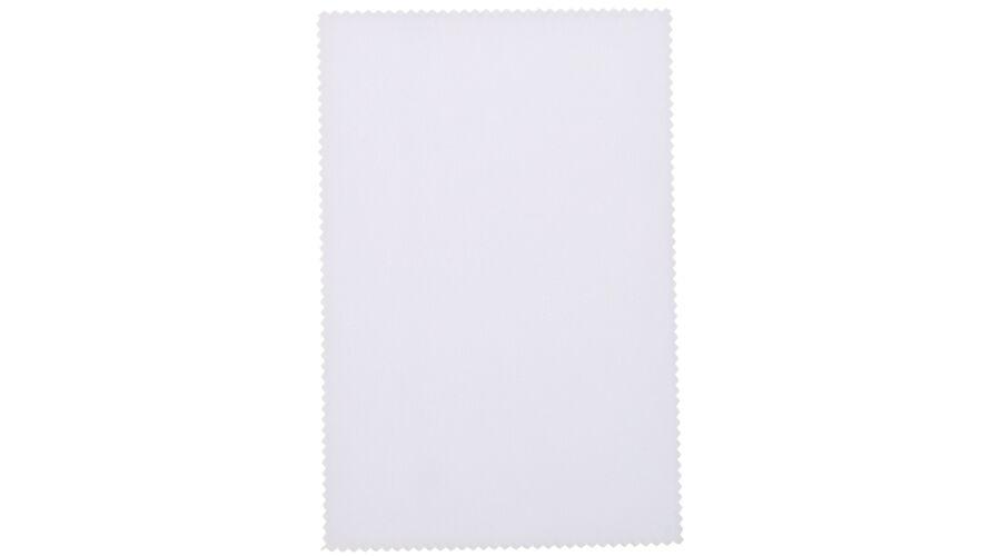 "Cloth: Silky Eco Microfiber 6""x6"" White Stock"